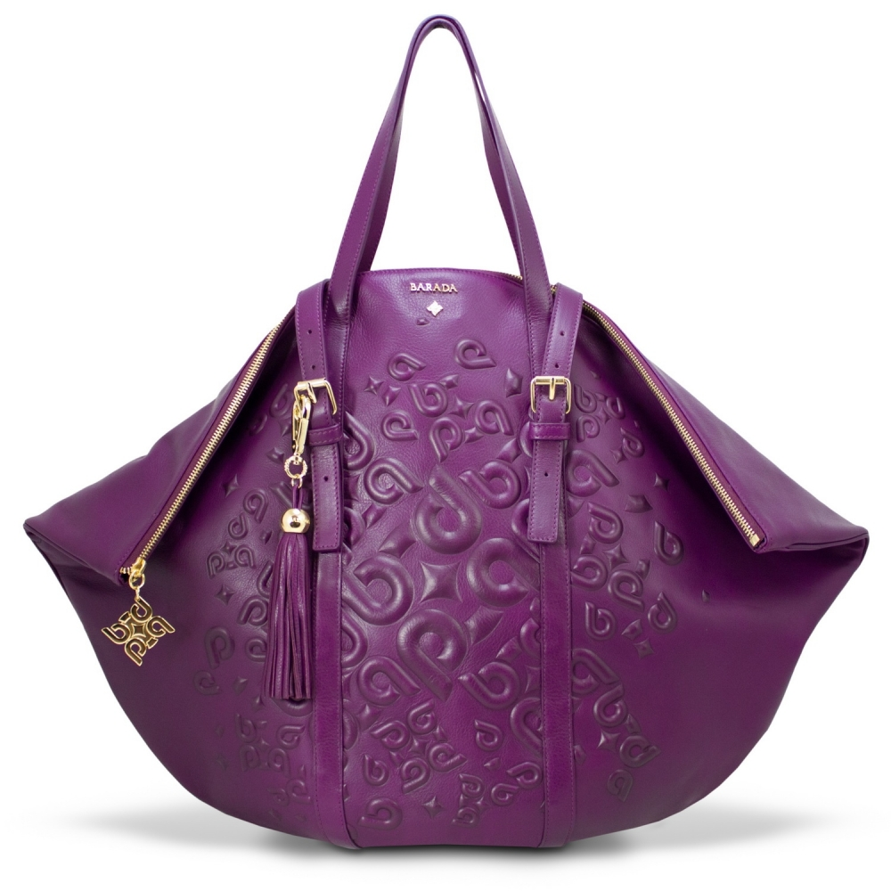 Shopping bag from our Rocío collection in Calf leather and Purple color
