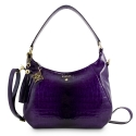 Shoulder Bag from our Brisa collection in Bright Calf leather and Blue color