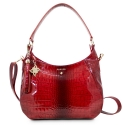 Shoulder Bag from our Brisa collection in Bright Calf leather and Red color