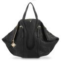 Shoulder Bag Rocio collection in Lamb skin Black colour