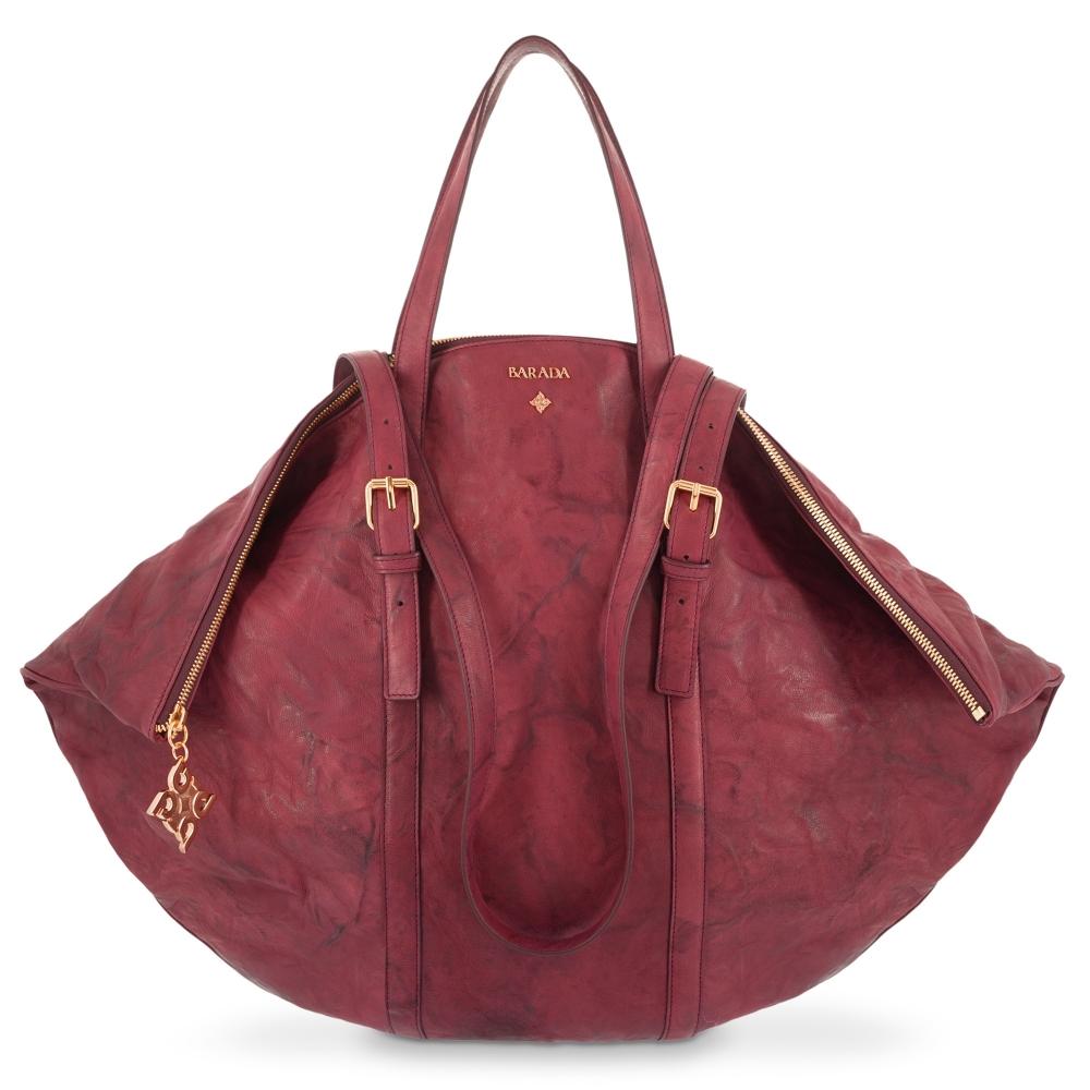 Shoulder Bag Rocio collection in Lamb skin Bourdeaux colour