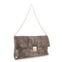 Clutch Bag Dama Blanca collection in Calf leather Lead colour