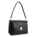 Shoulder Bag Morgana collection in Calf leather Black colour