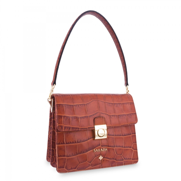 Shoulder Bag Morgana collection in Calf leather Natural colour