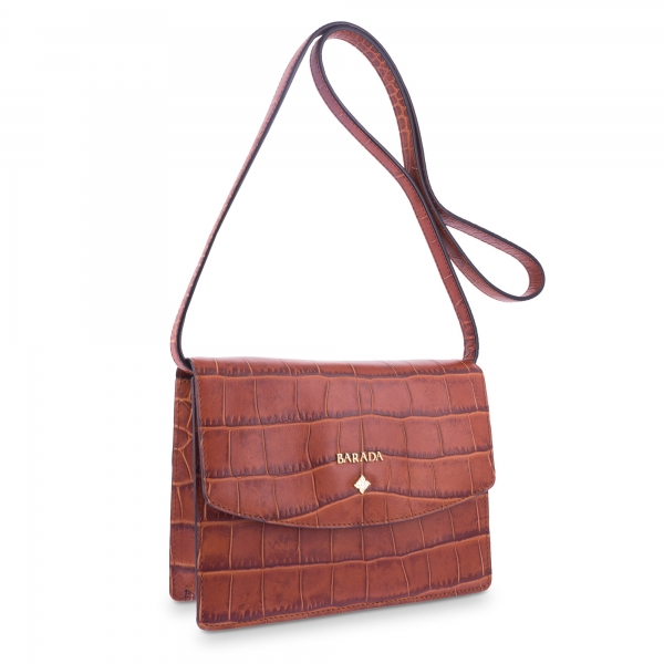 Cross Body Bag Morgana colecction in Calf leather Natural colour