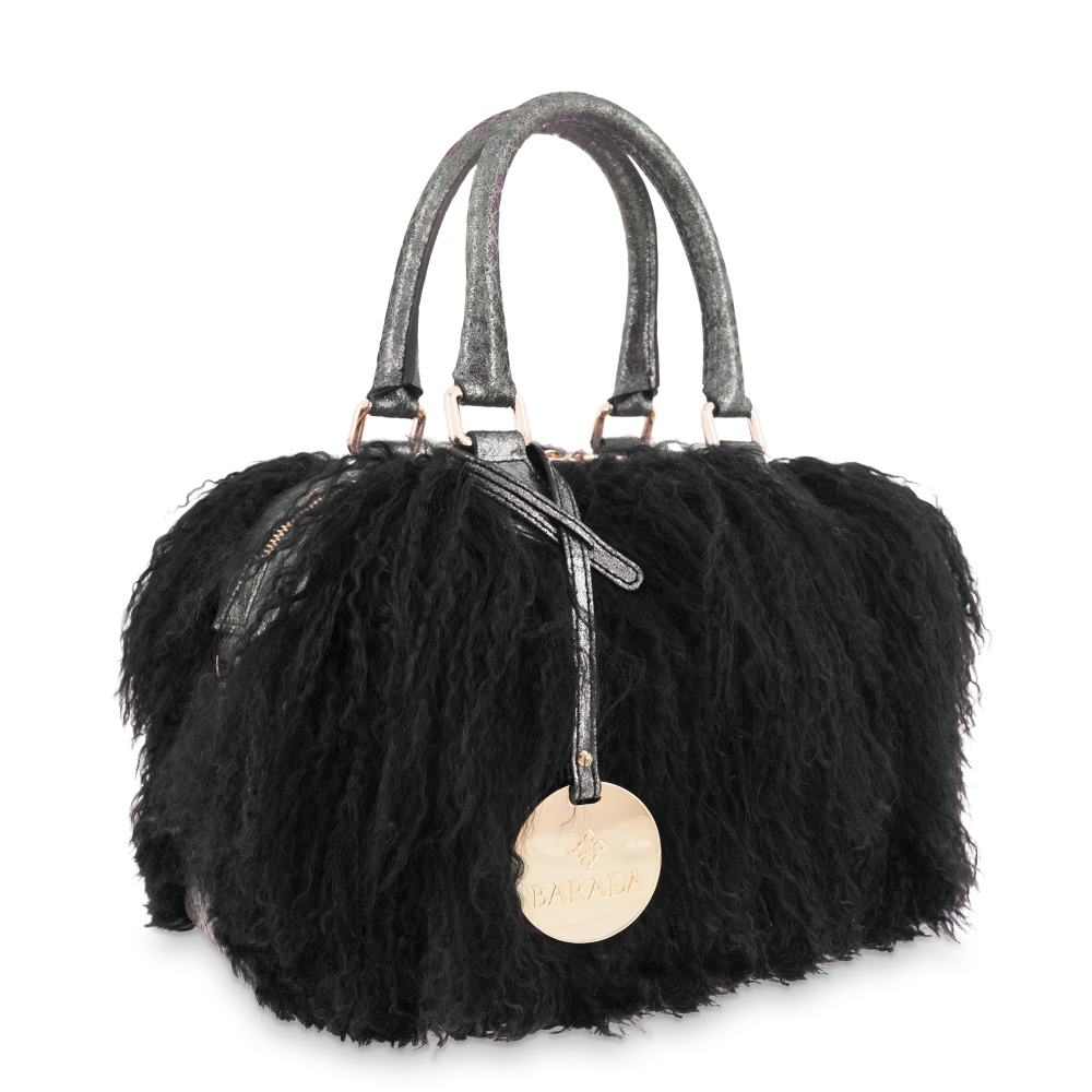 Bowling Bag Minerva collection in Lamb skin Black colour