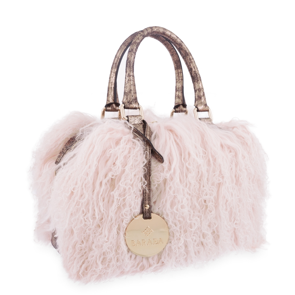 Bowling Bag Minerva colecction in Lamb skin Pink colour