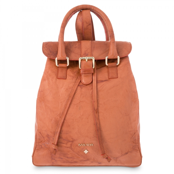 Backpack Breena collection in Calf leather Natural colour