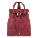 Backpack Breena collection in Calf leather Bourdeaux colour