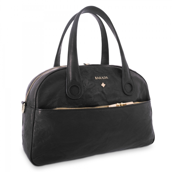 Handle Bag Alysa collection in Calf leather Black colour