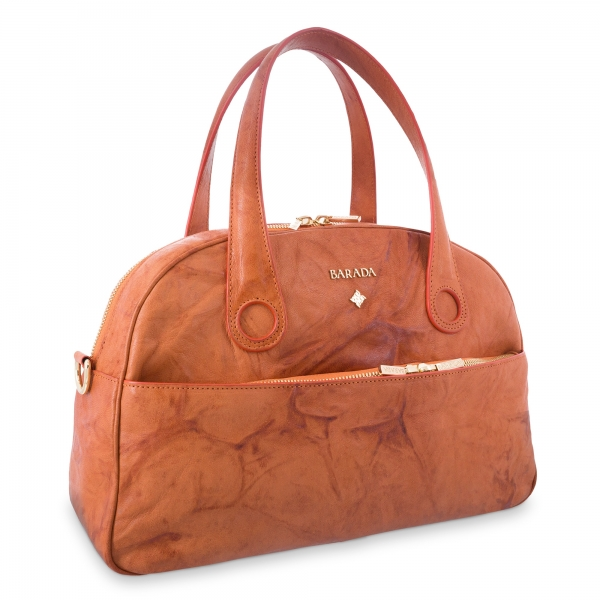 Handle Bag Alysa collection in Calf leather Natural colour