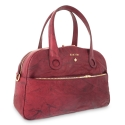 Handle Bag Alysa collection in Calf leather Bourdeaux colour