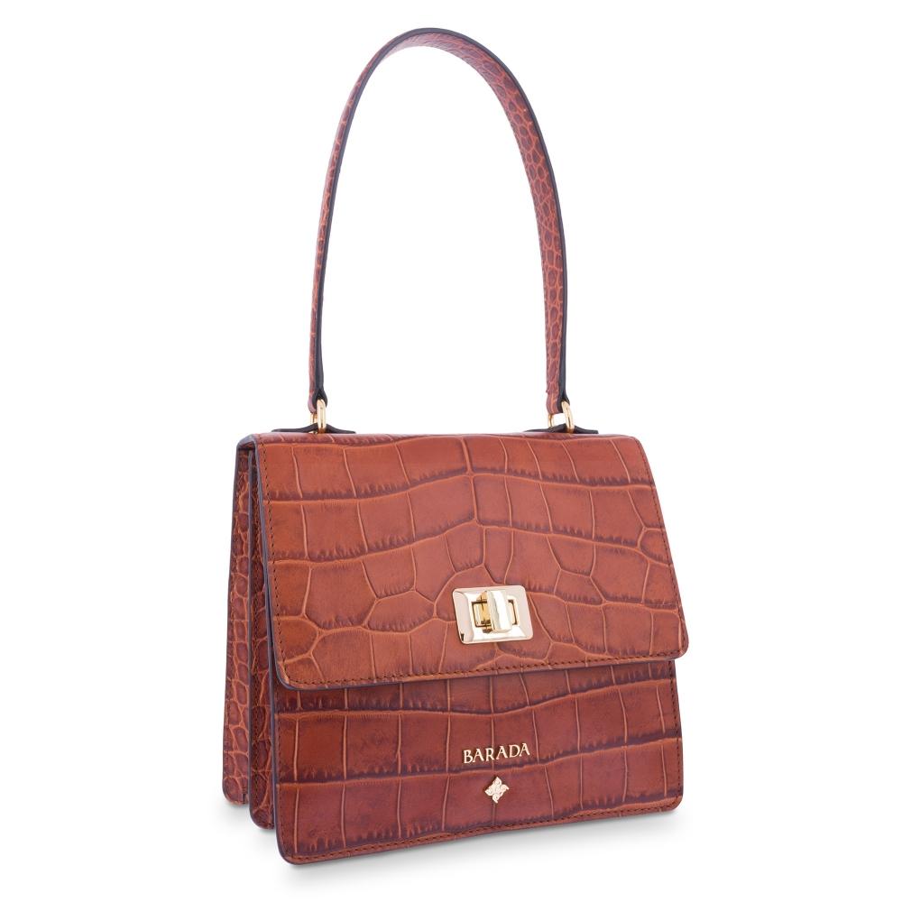 Shoulder Bag in Calf leather Natural colour
