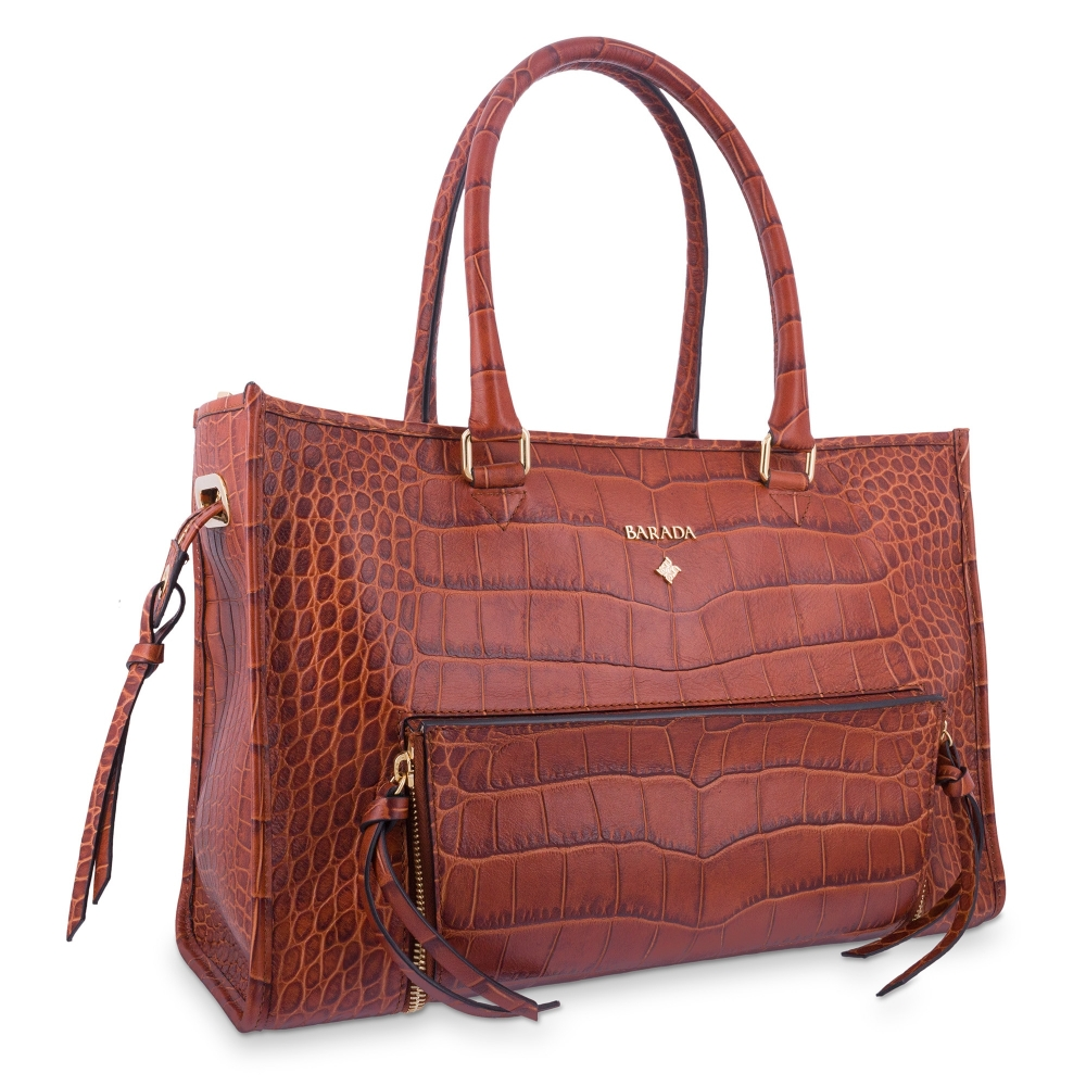 Handle Bag in Calf leather Natural colour