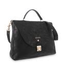 Handle Bag in Lamb skin Black colour