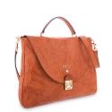 Handle Bag in Lamb skin Natural colour