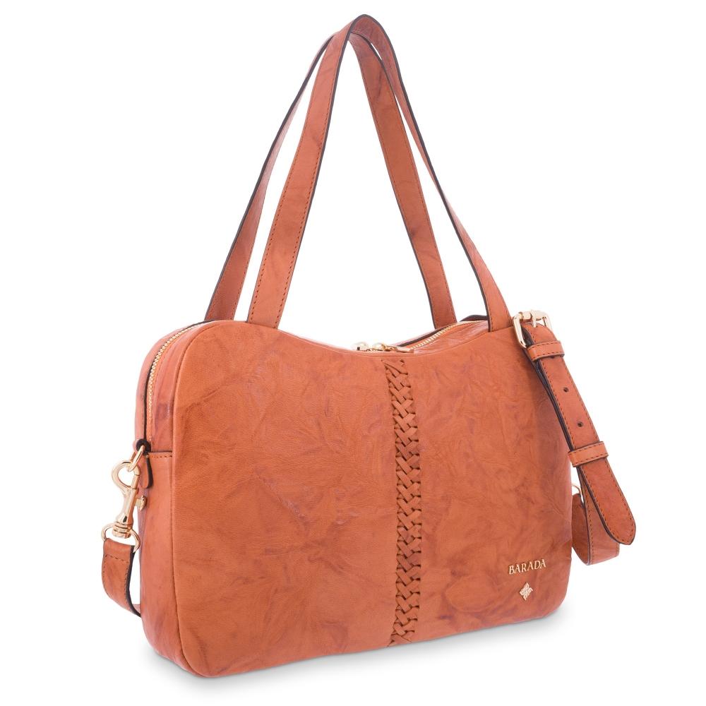 Tote Bag in Lamb skin Natural colour