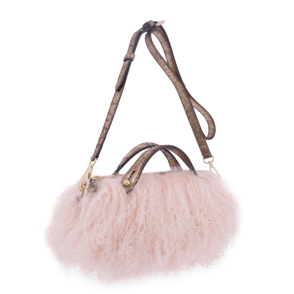 Hand Bag Damalis colección in Lamb skin Black colour