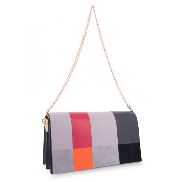 Clutch Bag in Calf leather Multicolour colour