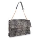 Shoulder Bag in Calf leather Bronze colour