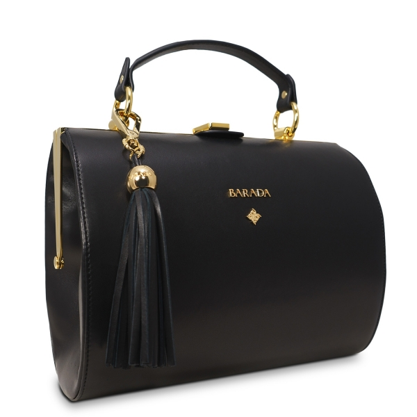 Bowling Bag Atenea Collection In Nappa Leather