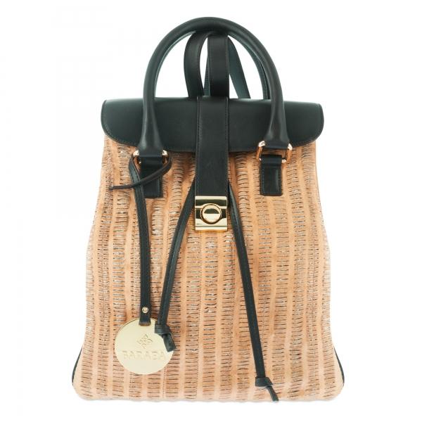 Backpack Collection Breena in Coda leather (Lambskinskin) and Tan / Moka colour