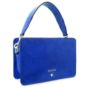 Handbag Collection Dasha in Wrinkled Patent leather (Calf) and Blue colour