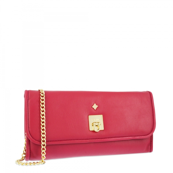 Evening Bag Collection Fiesta in Napa leather (Lambskin) and Red colour