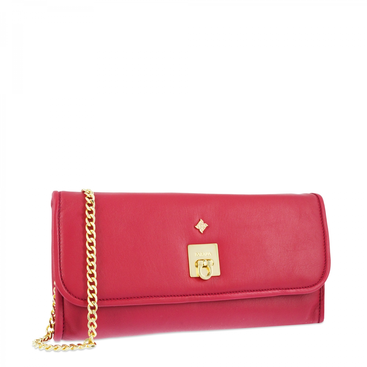 Evening Bag Collection Fiesta In Napa Leather Lambskin And Red Colour