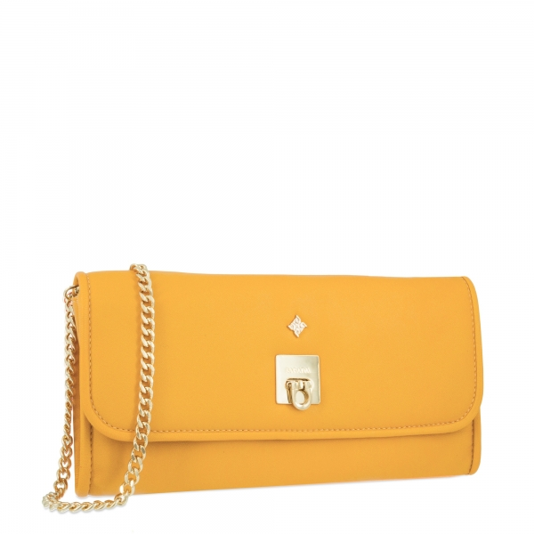 Evening Bag Collection Fiesta in Napa leather (Lambskin) and Yellow colour