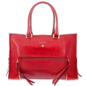Top handle handbag Style 320 in Wrinkled Patent leather (Calf) and Red colour
