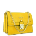 Shoulder bag Style 322 in Wrinkled Patent leather (Calf) and Yellow colour