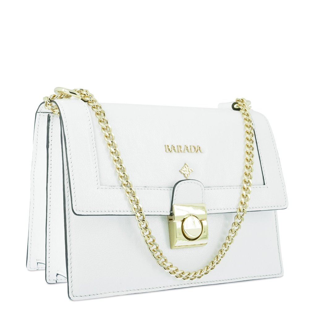 Shoulder bag Style 322 in Wrinkled Patent leather (Calf) and White colour