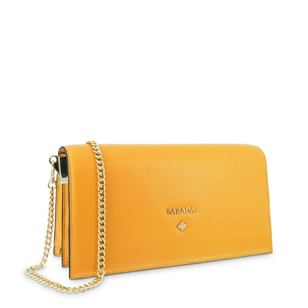 Bolso de Mano Modelo 332 en piel Napa (Cordero) y color Amarillo