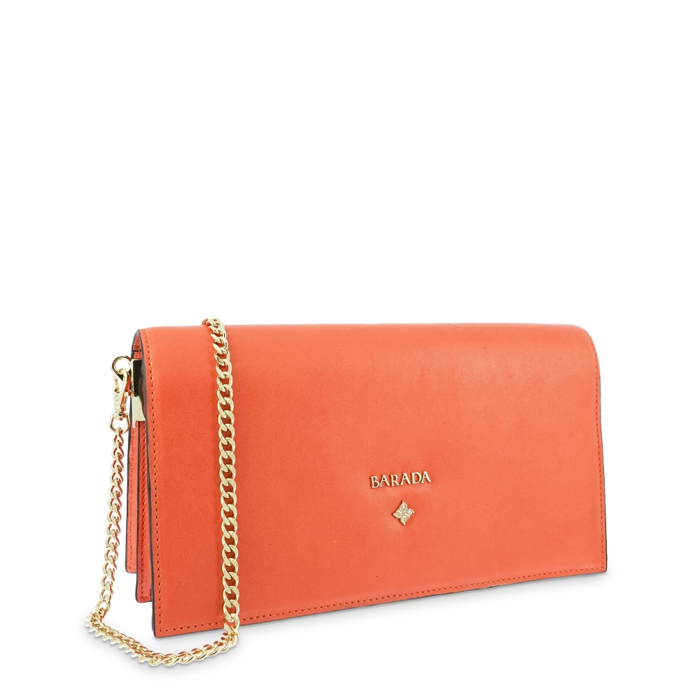 Handbag Style 322 in Napa leather (Lambskin) and Orange colour