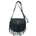 Crossover bag Style 335 in Napa leather (Lambskin) and Black colour