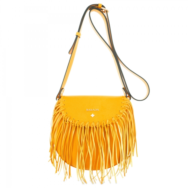 Crossover bag Style 335 in Napa leather (Lambskin) and Yellow colour