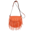 Crossover bag Style 335 in Napa leather (Lambskin) and Orange colour
