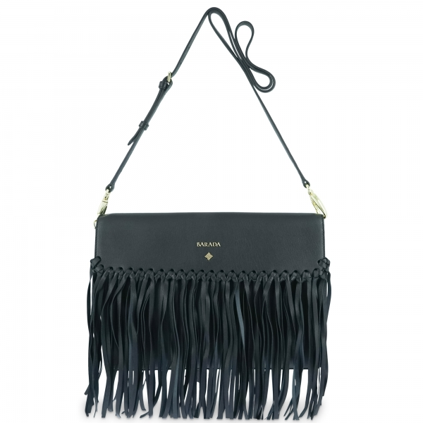 Crossover bag Style 336 in Napa leather (Lambskin) and Black colour