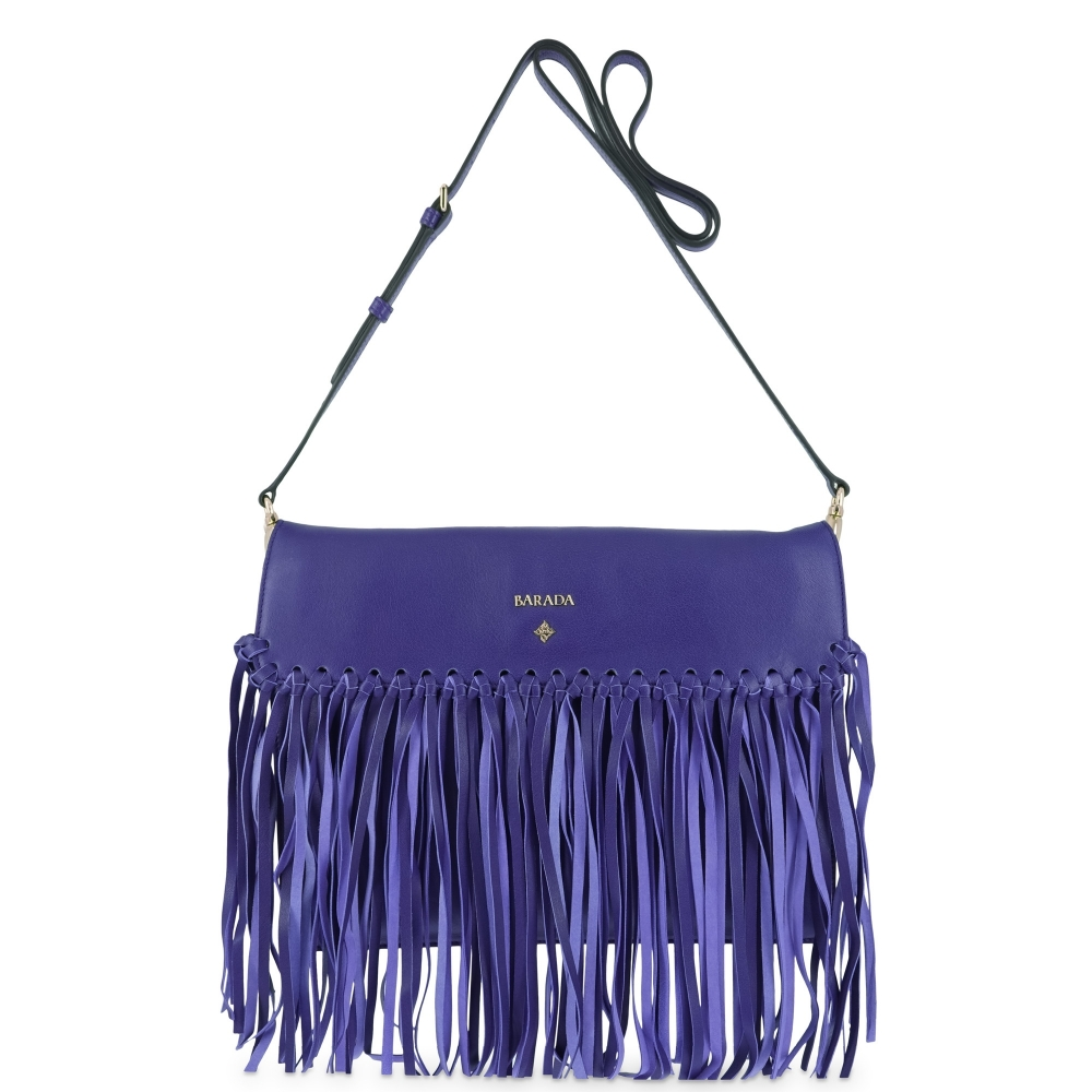 Crossover bag Style 336 in Napa leather (Lambskin) and Blue colour