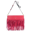 Crossover bag Style 336 in Napa leather (Lambskin) and Red colour