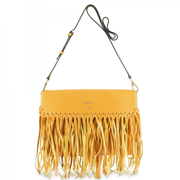 Crossover bag Style 336 in Napa leather (Lambskin) and Yellow colour