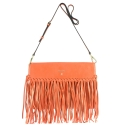 Crossover bag Style 336 in Napa leather (Lambskin) and Orange colour