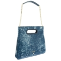 Top Handle handbag Style 339 in Colibrí leather (Lambskin) and Blue colour