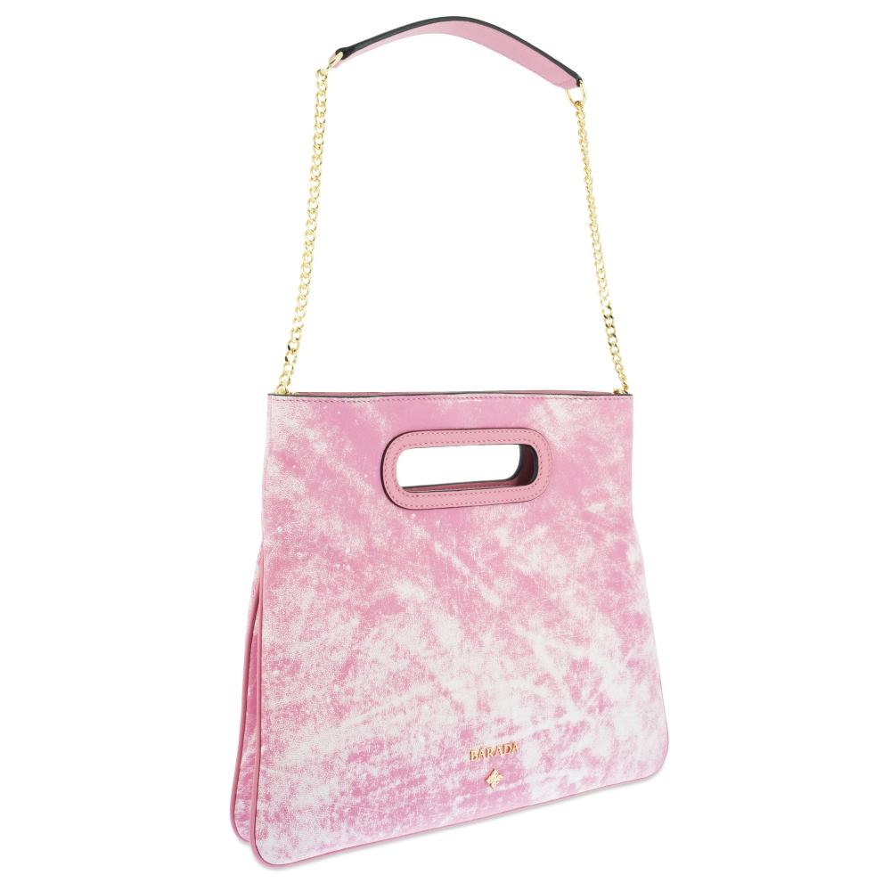 Top Handle handbag Style 339 in Colibrí leather (Lambskin) and Pink colour