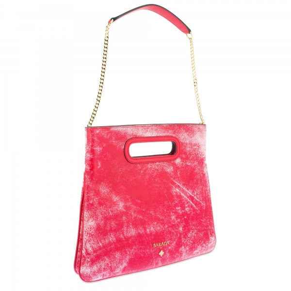Top Handle handbag Style 339 in Colibrí leather (Lambskin) and Red colour