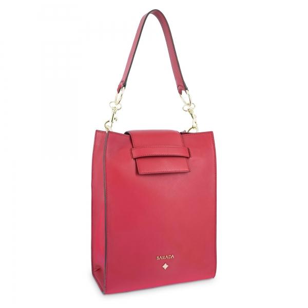 Bolso de Hombro Modelo 340 en piel Napa (Cordero) y color Rojo
