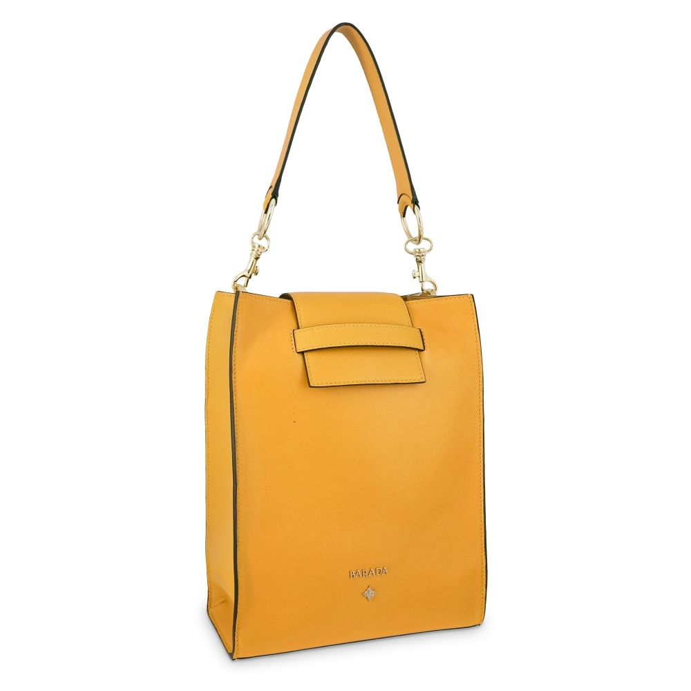 Shoulder bag Style 340 in Napa leather (Lambskin) and Yellow colour