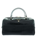 Handbag Style 342 in Wrinkled Patent leather (Calf) and Black colour