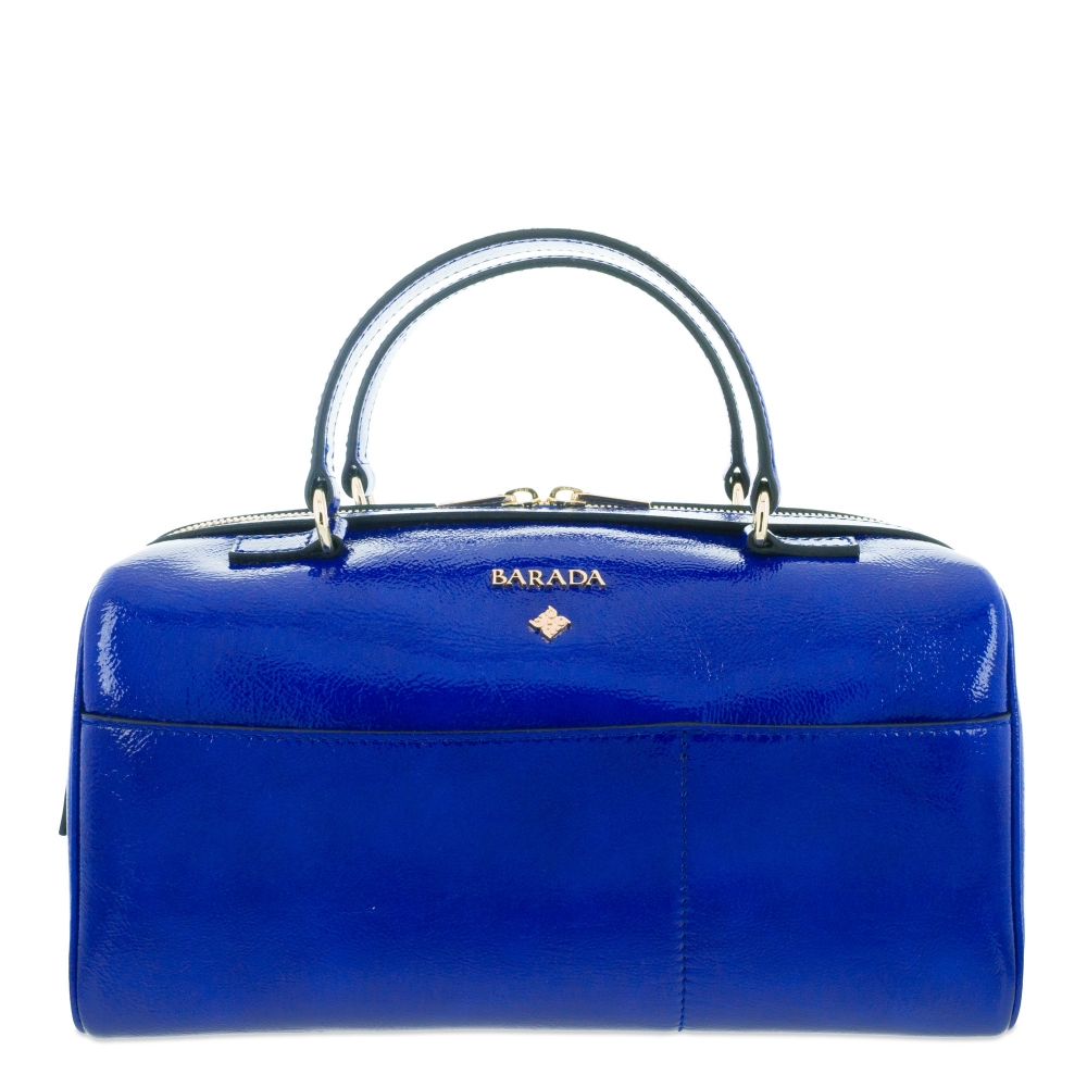 Handbag Style 342 in Wrinkled Patent leather (Calf) and Blue colour